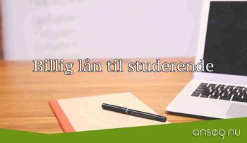 Billig lån til studerende