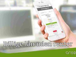 Billige lån uden renter