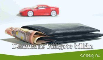 Danmarks billigste billån