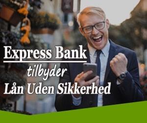 Express Bank tilbyder lån uden sikkerhed