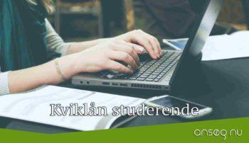 Kviklån studerende