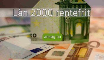 Lån 2000 rentefrit