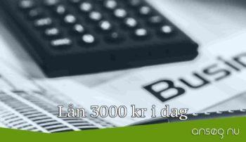 Lån 3000 kr i dag