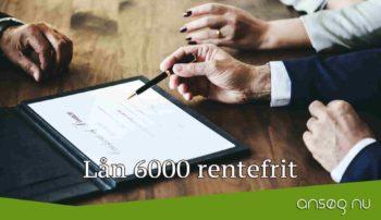 Lån 6000 rentefrit