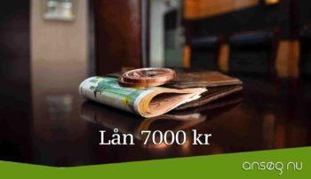 Lån 7000 kr