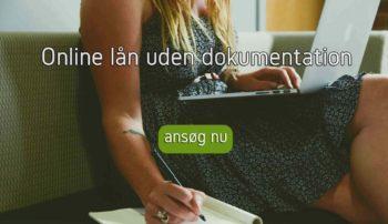 Online lån uden dokumentation