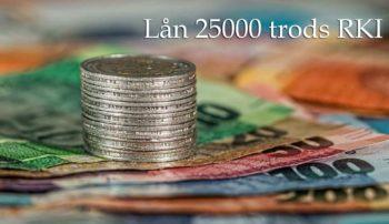 Lån 25000 trods RKI